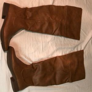 Shoes - Light brown over the knee boots